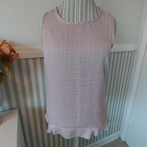 NWT Drew Anthro Pink Super Soft Ruffle Top Medium